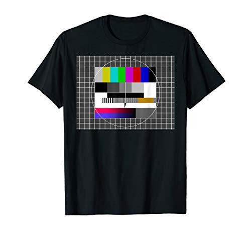 80er Jahre Kostüm Tshirt - TV Testbild Sendepause T-Shirt (Kostüm 80er Mode)