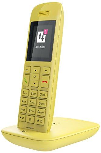 Telekom Speedphone 11 gelb mit DECT Basis und Anrufbeantworter – wahlweise nutzbar am IP Anschluss oder am analogen a/b Port