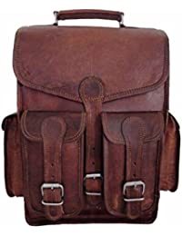 0a18483494ec pranjals house Men s Vintage Handmade 13 Inch Leather 2 in 1 Shoulder Cum Backpack  Bag (
