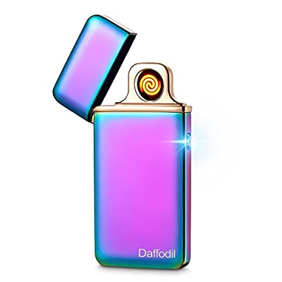 Daffodil Slim Electronic Cigarette Lighter EC220 - USB Rechargeable Electronic Windproof Cigarette Lighter with Touch Sensor and Replaceable Heating Coil from Daffodil