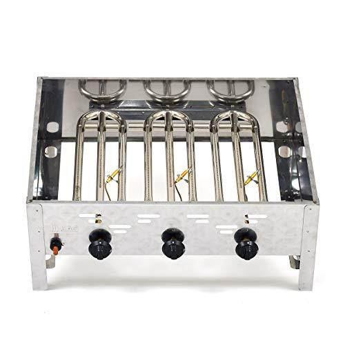 LAG Gasgrill 11kW fahrbar mit Grillrost und Abstellplatten, 3-flammig Grill Gastrobräter Profigrill Verein