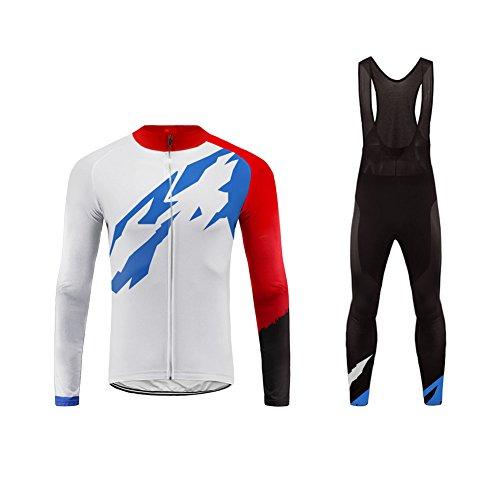 Uglyfrog Herren Radtrikot Anzüge Bike Long Cycling Jersey + Bike Bib Pants Atmungsaktiv Mannschaft Trikot Lange Hosen Comfortable Fahrradbekleidung