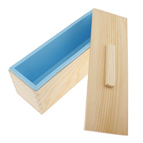 Non-brand Rectangle Seife Form Silikon Handwerk DIY Herstellung Hausgemachte - Blau, 1200ml (Für Handwerk Holzkisten)