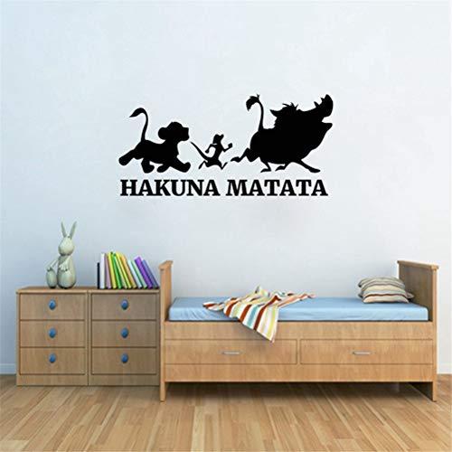 Wandtattoo Wohnzimmer Wandtattoo Schlafzimmer Hakuna Matata Lion King Aufkleber für Wohnzimmer Kinder Jungen Zimmer Schlafzimmer