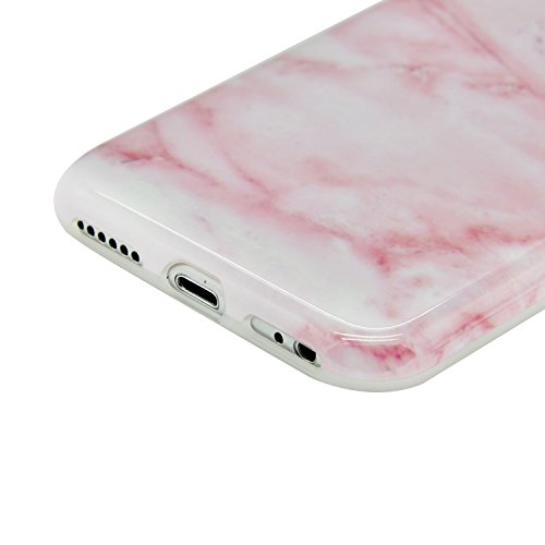 iPhone 6S Marble Hülle,iPhone 6 Marmor Case,Sunroyal Kreative Stylish Schickes Retro Elegant Schön Luxus Rosa Kristall Granite Grain Stein Pattern Silikon Handyhülle Weiß Stein Glamour Ultradünn Trans Pattern 21
