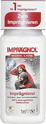 IMPRäGNOL Bionic Care Imprägnierer 250ml: Sauberkeit und Wäscheschutz für jede Wetterlage - idealer Kleidungsschutz für Outdoor,- Sport- und Funktionskleidung, PFC-frei