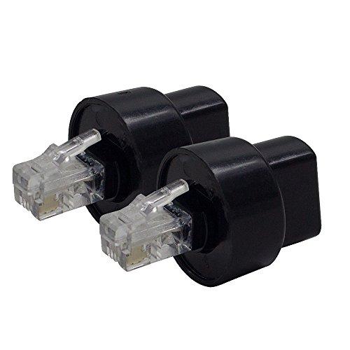 shonco 2Pcs Extended drehbar Telefon Cord Detangler Festnetz Telefon Zubehör (Detangler Cord Handset)