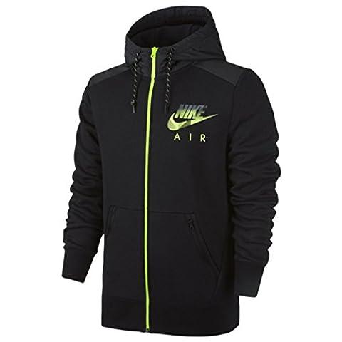 NIKE sweat-shirt à capuche pour homme full zip fleece S Noir - Black/Htr/Volt