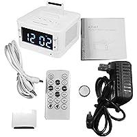 K7 Altavoz Bluetooth Reloj LCD Digital Estéreo HiFi Reproductor de música Soporte Manos Libres Snooze Sleep AUX Reloj Despertador Radio