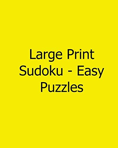 Large Print Sudoku - Easy Puzzles: 80 Easy to Read, Large Print Sudoku Puzzles by Megan Stewart (2013-02-13)