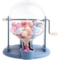 Homyl Mini Desktop Bingospiel - Handkurbel Losmaschine / Lotto-Maschine aus Kunststoff