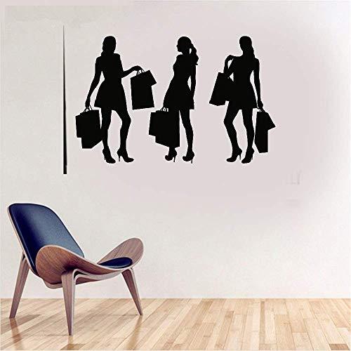 Wandtattoo Kinderzimmer Shopping Girls Fashion für die Mall Hintergrund Wohnzimmer Beauty Salon Decor