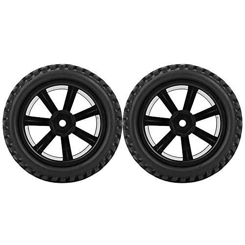 VGEBY1 2pcs RC Autoreifen, 75mm 1/16 Fernsteuerungsgummiauto Rad mit Hohem Stabilitäts Rennwagen Reifen -