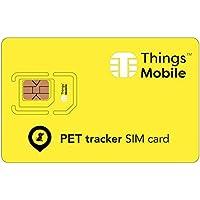 SIM Card Pet Tracker GSM / 2G / 3G / 4G - ideal für die Überwachung von Tieren und Anderen Anwendungen wie Senioren, Kindern, Fahrzeuge, etc, mit 10 Karten