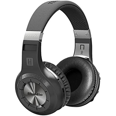 Bluedio H+ Turbine - Auriculares de diadema cerrados inalámbricos (Radio FM, Bluetooth, 3.5 mm), color negro