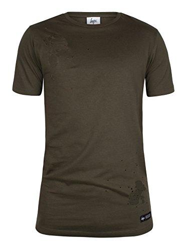 Hype Herren Zerrissene Körper T-Shirt, Grün Grün