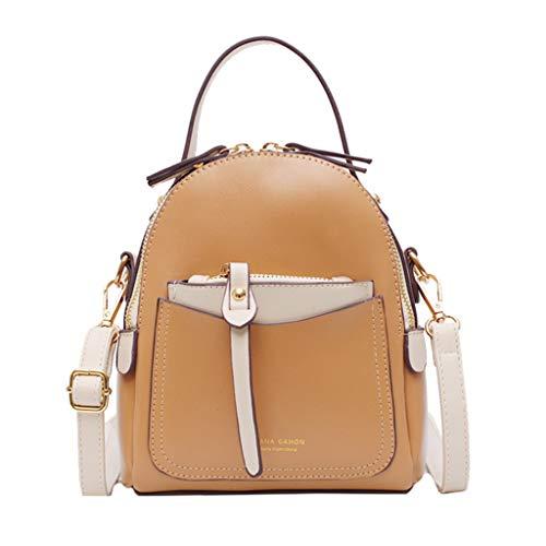 Zaino in Pelle,Selvaggio Borse a Zainetto Colore Solido Borsa da Viaggio Moda Donna Elegante Daypack per Casual Shopping