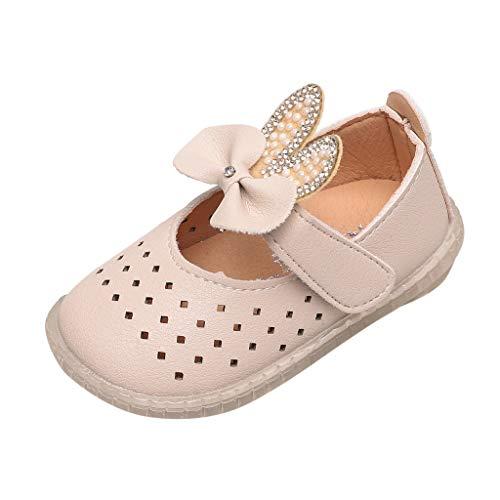 AIni Schuhe Baby,2019 Neuer Beiläufiges Mode Kleinkind Kleinkind Kinder Baby Mädchen ausHöhlen Kristall Bowknot Prinzessin Schuhe Sandalen Taufschuhe Krabbelschuhe (22,Beige)