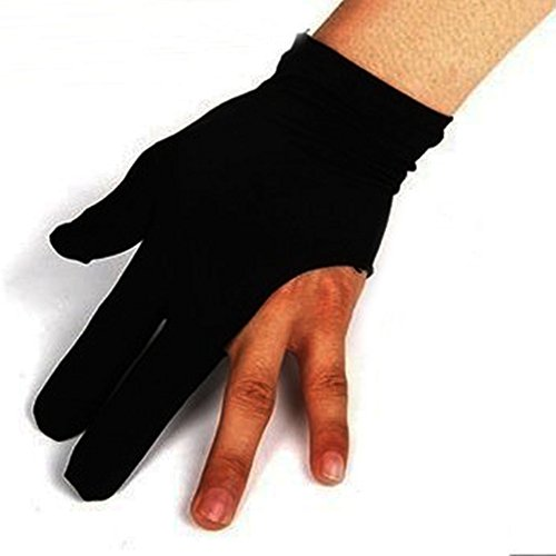 Soccik Billard Handschuh Beidhändig 3 Finger Handschuhe Billard Snooker Queue Handschuhe Finger Handschuhe fuer Billardspielen Snooker Schwarze 10 Stück