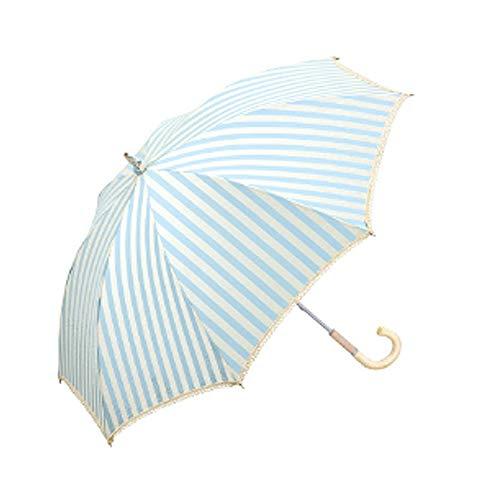 ZJPP Spitze-Hochzeits-Regenschirm, Dekorations-Regenschirm, Mode-Mädchen-Regenschirm im Freien, Super-UVschutz-Regenschirm,Blue - Design-dreifach-schalter