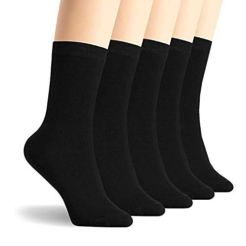 Calcetines - para mujer 100% algodón peinado - negro