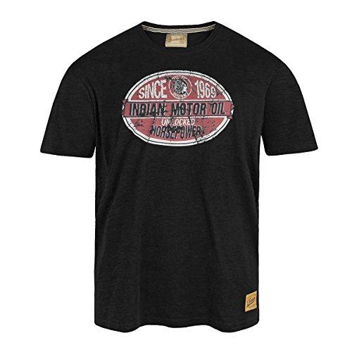 Redfield schwarzes T-Shirt mit coolem Druck Übergröße Schwarz