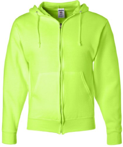 JERZEES - full-con cerniera NuBlend felpa con cappuccio-Shirt Safety Green