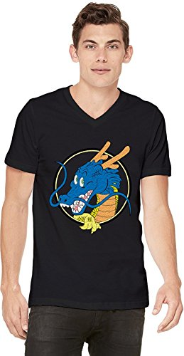 Dragon Ball Dragon T-shirt col V pour hommes Small