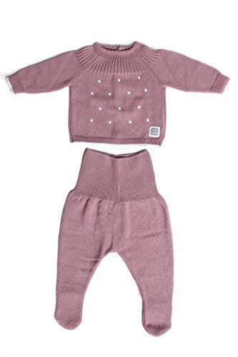 Minutus Pull et caleçon en tricot pour bébé nouveau-né–Océan -  -  56 cm