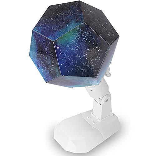 Preisvergleich Produktbild Zwölf Konstellation Sterne Nachtlicht Projektor Lampe für Kinder Dimmbare Multifunktions Sky Projection Nachtlampe DIY Rotierende Nachtlichter USB-Aufladung für Schlafzimmer Studie Nachttischlampe