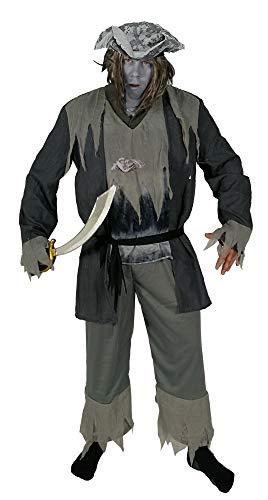 Foxxeo Geister Piraten Kostüm für Herren Halloween Karneval Fasching Party Gr. M -XXXL Größe XXXL