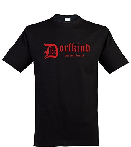 Klamottenkiste24 Herren T-Shirt, Dorfkind und stolz darauf, schwarz, Gr. ()