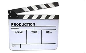 1 X Schwengel Board Schiefer für TV Film Movie -Weiß & Schwarz /hohe Qualität schwarz und weiß Acryl Film Schwengel Film Schwengel Board mit Stick - mit Justierschrauben