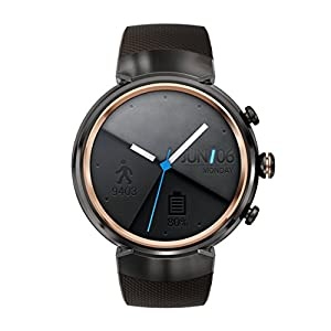 Asus - Reloj ZenWatch 3 WI503Q-1RGRY0001 (3,5 cm), Amoled, 400 x 400 Qualcomm Snapdragon Wear 2100. 512 MB, 4 GB, compatible con Android, Color Marrón Oscuro