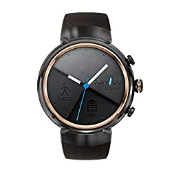 Asus Zenwatch 3 WI503Q-1RGRY0001 (3,5cm (1,39 Zoll), Amoled, 400 x 400 Qualcomm Snapdragon Wear 2100 512MB, 4GB, Android Wear Sportarmband) dunkelbraun