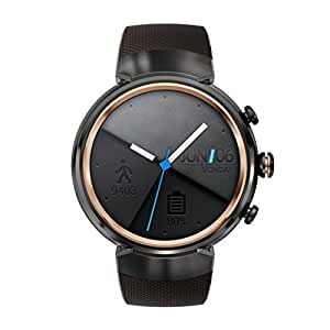 Asus Zenwatch 3 WI503Q-1RGRY0001 Orologio inteligente (3,5cm (1,39pollici)), AMOLED, 400x 400Qualcomm Snapdragon  2100512MB, 4GB, Android sport, bracciale marrone scuro [Germania]