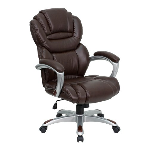 flash-furniture-go-901-bn-gg-high-back-brown-leather-executive-office-chair-with-padded-loop-arms-by
