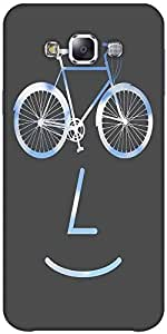 Snoogg Public Bike Poster 2923 Hard Back Case Cover Shield Forsamsung Galaxy E5