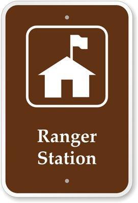 qidushop Aluminium Schild Ranger Station Garten Garage Einfahrt Haus Zaun 30x 45cm