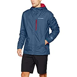Columbia Pouring Adventure II Chaqueta, Azul (Dark Mountain), Talla XL