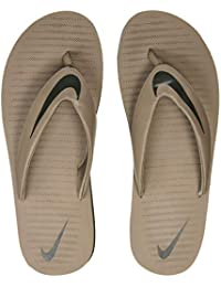 Nike Men's Chroma Thong 5 Sepia Stone/Sequoia Total Crimson Flip Flops