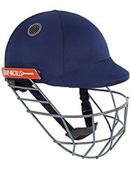 GN Atomic Senior–Casco de críquet, color negro, S/M