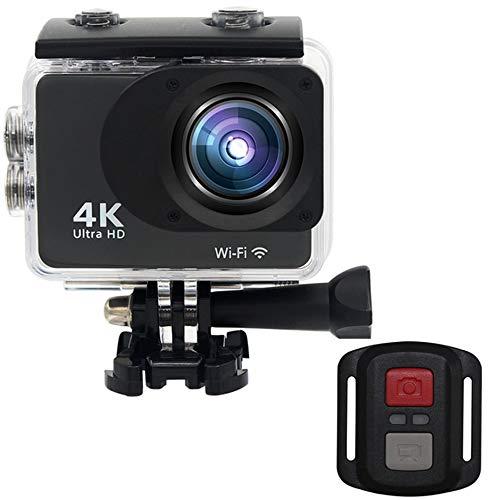 WEIWEITOE-DE S100R Doppelbildschirm 2,0 Zoll TFT Action Kamera 140 Grad Weitwinkel 1080 P Mini Größe Ultra HD Outdoor Unterwasser Helm Kamera, schwarz,