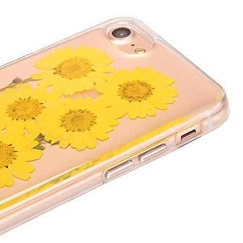 Phone case & Hülle Für iPhone 6 / 6s, Epoxy Tropfen gepresst echt getrocknete Blume weichen transparenten TPU Schutzhülle ( SKU : Ip6g2996e ) Ip6g2996p