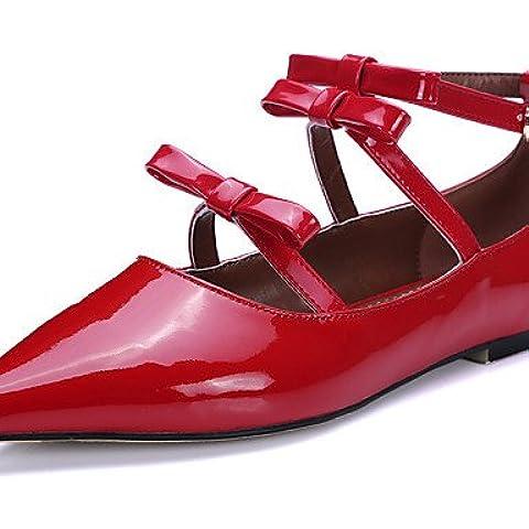 ZY/YYZ Scarpe da donna pelle bovina/brevetto in pelle tacco stivali