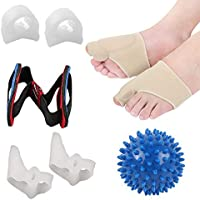 AOLVO Corrector de juanetes y Protector de juanetes para Hombres y Mujeres, separadores de Dedos