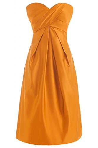 Sunvary una linea Sweetheart Homecoming-Pantaloncini in raso da Cocktail Party Dresses Orange