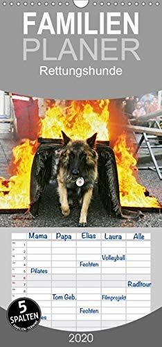 Rettungshunde - Familienplaner hoch (Wandkalender 2020, 21 cm x 45 cm, hoch)