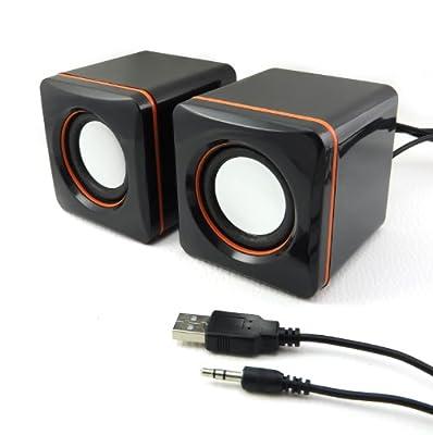 Incutex PC multimédia Enceintes Speakers Système de son ordinateur portable Mini Sound Station audio de Incutex