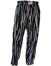 Gimnasio Yoga baggys Baggies entrenamiento muscular Sport Casual pantalones S M L XL gris impresión de piel de cebra